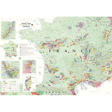 "De Long's Wine Map of France 24"" x 36"""