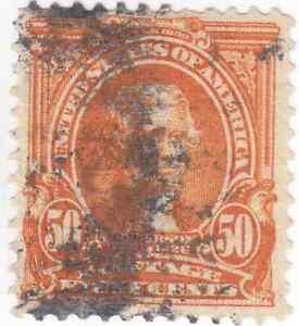 Scott #310 - 50c Orange - Jefferson - Used - SCV - $35.00