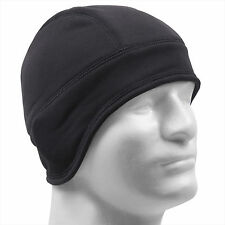 Rothco Arctic Fleece Lined Tactical Beanie Hat Watch Cap Helmet Liner Black NEW