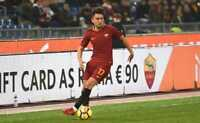 Cengiz Ünder Pantaloncino n° 17 As Roma Match Worn taglia L (indossato in gara)