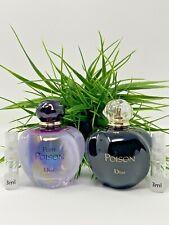 Dior Pure Poison Eau de Parfum Dior Poison Eau de Toilette Lot of 2 SAMPLE