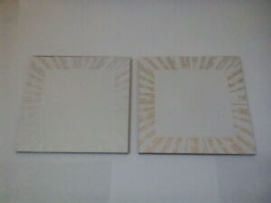 White Gold or Silver Square Hardwood Coasters Table Cup Dining Mat Hobby Craft