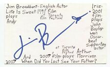 Jim Broadbent Signed 3x5 Index Card Autographed Game of Thrones Harry Potter