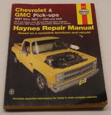 Haynes Repair Manuals Chevrolet and GMC Pick-Ups 1967 Thru 1987 2WD 4WD 1998 PB