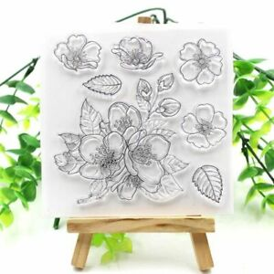 1pc Flowers Transparent Silicone Stamp Clear Stamp Seals DIY Scrapbooking Decora