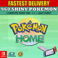 960 Pokemon shiny Home PokeDex sword and shield complete 1-7 Gen - Events / rare