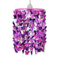 Vivero Chicas Mariposa Rosa Dormitorio Luces de Techo Lámpara Colgante De Sombra