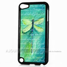 ( For iPod Touch 6 ) Back Case Cover AJ11352 Green Dragonfly