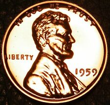 1959 Gem Proof Memorial Pennies Cents in US Coin