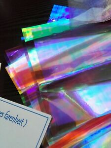 ANGELINA Fusible Film Colourful Sheets Card Making Crafts Dichroic Sewing