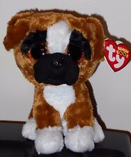 "Ty Beanie Boos ~ BRUTUS the 6"" Boxer Dog ~ NEW with MINT TAGS ~ RETIRED"