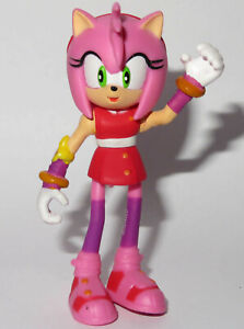 7cm AMY ROSE SONIC BOOM FIGURE TOY SEGA HEDGEHOG JOINTED RARE POSEABLE OUIDO