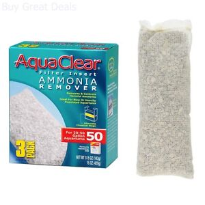 Aquaclear 50-Gallon Ammonia Remover, 3-Pack Tank Cleaner NEW