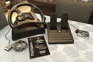 Mad Catz Gaming Steering Wheel With Foot Pedals For Playstation 1