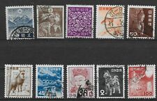 1939-53 Japan Lot of 10 Mixed Used Issues, Sc# 262|584, Nh, *F*