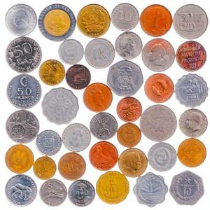 40 COINS FROM VERY RARE EXOTIC COUNTRIES, COLONIES, NON-EXISTENT STATES, EMPIRES