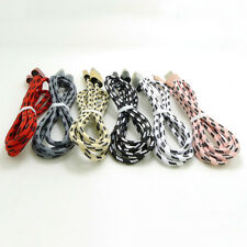 0.2-3m Metal Braided Fabric Fast Data Charge Cable For iPhone 5 6 6S 7 Plus Lot