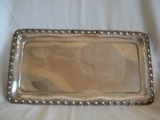1950s--60s  VINTAGE 800 SILVER TRAY WITH ROSES -  MADE IN ISRAEL - 280 grams
