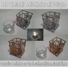 Moderne Deko-Windlichter mit Stern-Schliffform