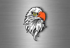 Sticker decal car bike vynil bumper american eagle head flag usa  R2