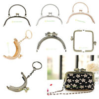 Retro Metal Purse Bag Handle Bag Hand DIY Bag Craft Frame Clutch Kiss Clasp Lock