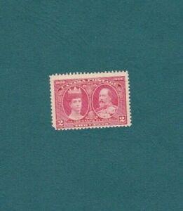 Stamps Canada #98, 1908, 2 Cent Quebec Centenary, Carmine King & Queen, MNH