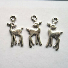100pcs Tibetan silver deer charms pendant 21x11 mm