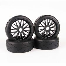 4Pcs 1:8 Buggy Tires Wheel Rim For HPI HSP Traxxas RC Model Car On-Road Tyre