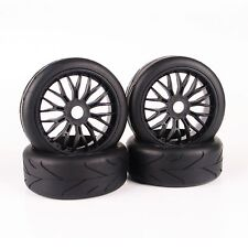RC 4Pcs 17mm Hex 1:8 Buggy Tires Wheel For HPI HSP Traxxas On-Road Model Car