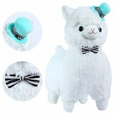 """KSB 20"""" Giant Huge White Plush Alpaca With Tie And Hat,Cute Soft Stuffed Animals"""