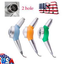 Dental Air Flow Polishing Polisher Handpiece Hygiene Prophy Jet 2 Holes Colorful
