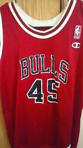Michael Jordan red #45 Champion brand size 18-20 children