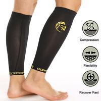 Copper Compression Socks Recovery Calf Leg Sleeves Shin Splint Running Sport Gym