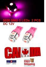 2pcs 5SMD Pink Purple LED T10 194 158 168 912 Map Dome License Plate Light Bulb
