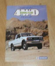 * Nissan / Datsun 4WD King Cab Pick Up Brochure 1983 - Date Stamp Cover *