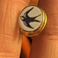 Cardiff City Piccolo rotondo Bianco Bluebird Crest smalto pin badge