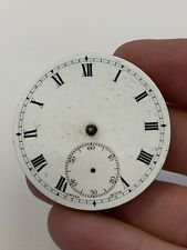 Antique Zenith Pocket Watch Movement Enamel Dial Swiss Made AF