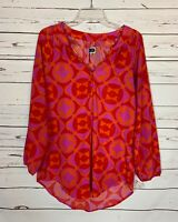 Mudpie Boutique Women's Size S Small Pink Red Cute Fall Tunic Top Blouse Shirt