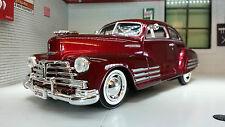 G LGB 1:24 Scale Chevrolet Aerosedan Fleetline 1948 Motormax Model Car 73266 Red