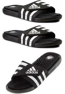Adidas Unisex Sliders ADDISAGE Massage Sliders Sandals Flip Flops Black