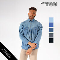 Vintage Long Sleeved Denim Shirts XS, S, M, L, XL, XXL