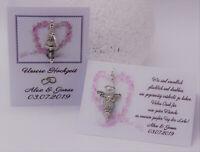 Der schöne Kristall Schutzengel zur Hochzeit in Geschenkverpackung mit Ehespruch