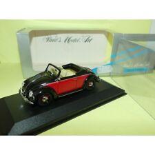 VW COCCINELLE CABRIOLET Noir et Rouge MINICHAMPS 1:43
