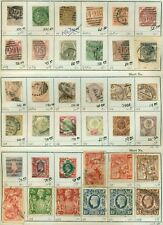 Early Great Britian Group Of 47 Different, Used, F/Vf To Vf, Scott $2678.00