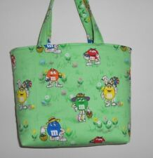 Handmade M & M'S Easter Eggs Hats Purse Tote Bag made w/ M&M'S® Licensed Fabric