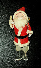 "Ant. German Old Belsnickle Santa Claus Felt~Composition~Stone Boots~6""H"