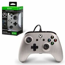 Xbox One Brushed Aluminum Enhanced Wired Controller