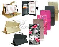 Pour Google Pixel 3A XL Neuf Authentique Noir Rose Cuir Wallet Étui de Téléphone