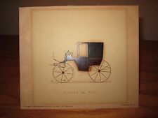 Carriage Buggy Salesman Painted Print for Coupe 3/4 #105 Artistic Publishing NYC