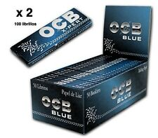 OCB 100 LIBRITOS,2 Cajas de papel de fumar OCB Xpert  AZUL - BLUE   .  Nuevo.